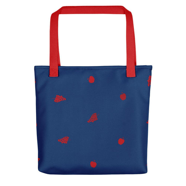 Émilie Red and Blue Tote bag - Tote bag from Paris France