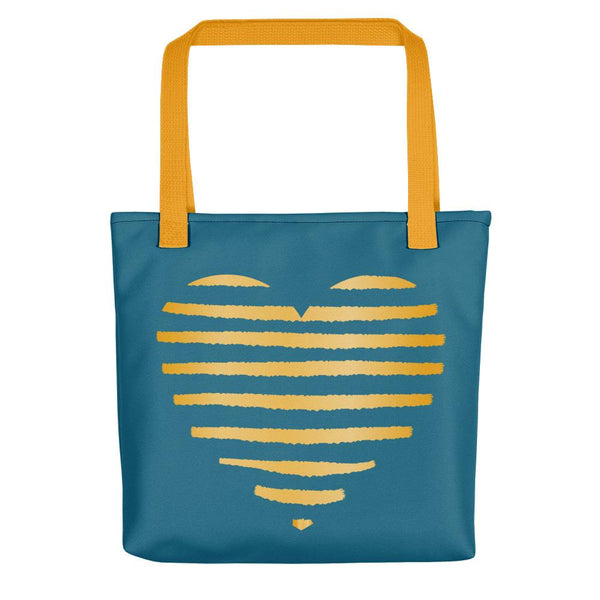 Golden heart | Tote Bag - Tote bag from Ainsi Hardi Paris France