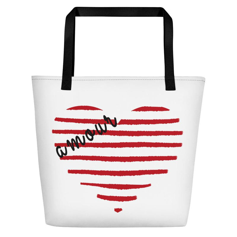 Striped heart Tote bag - Tote bag from Paris France