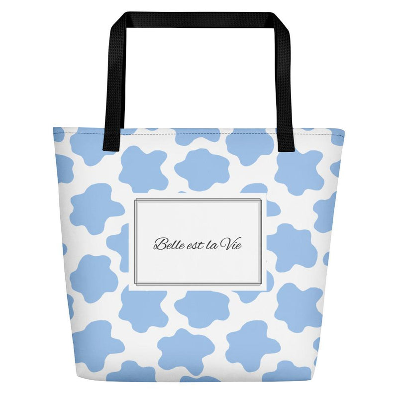 Life is Beautiful Blue Tote bag - Tote bag from Paris France