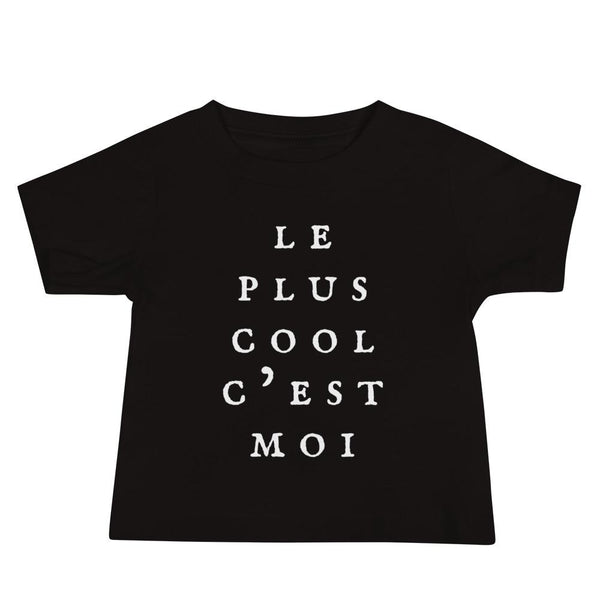 Le Plus Cool C'est Moi Children's Black T-shirt - Children's T-Shirt from Ainsi Hardi Paris France