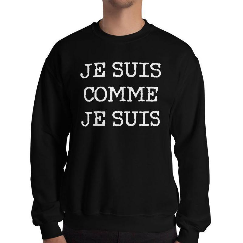 I am as I am Sweatshirt - Men's Sweatshirt from Ainsi Hardi Paris France