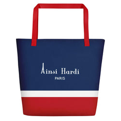Red, White, and Blue Tote bag - Tote bag from Ainsi Hardi Paris France