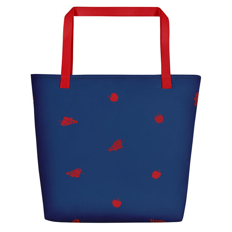 Émilie Red and Blue | Tote Bag - Tote bag from Ainsi Hardi Paris France