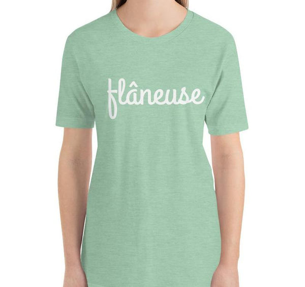 Wandering Flâneuse T-Shirt - Women's T-shirt from Paris France