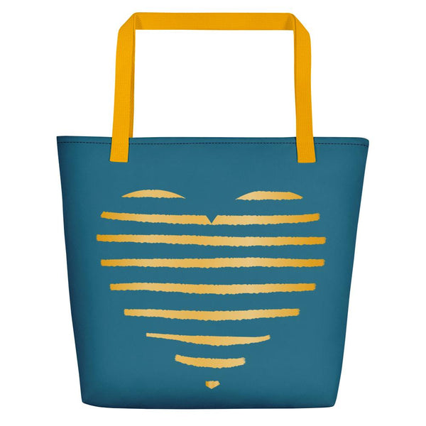 Golden heart Tote bag - Tote bag from Paris France