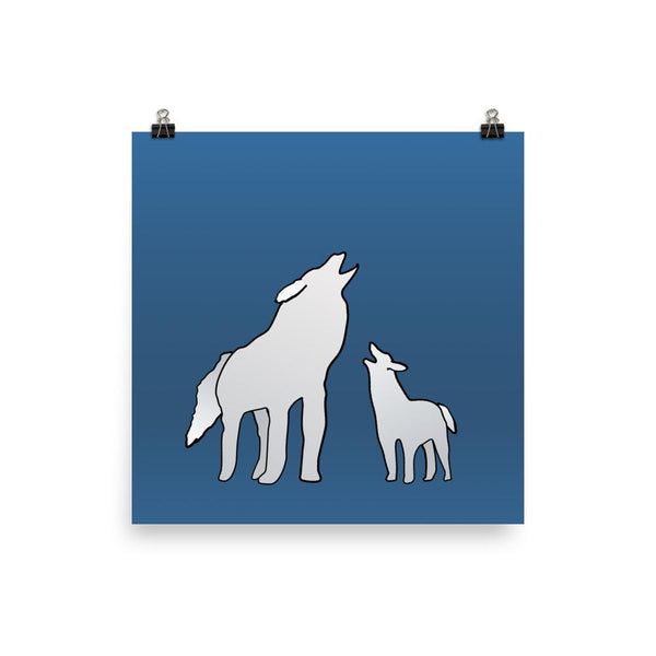 Wolf Pack | Parent and Child Giclée Print - Poster from Ainsi Hardi Paris France