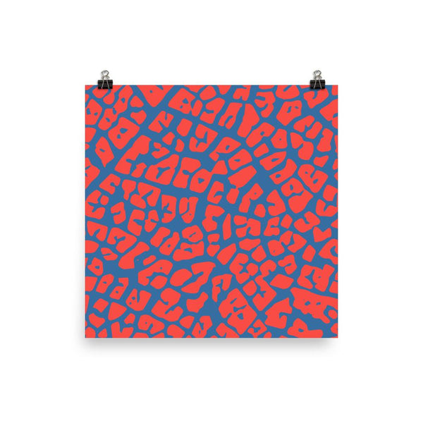 Abstract Red and Blue Maze | Giclée Print - Poster from Ainsi Hardi Paris France