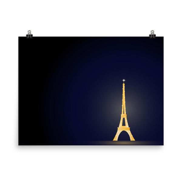 Glowing in the Night | Eiffel Tower Paris | Art Print - Poster from Ainsi Hardi Paris France