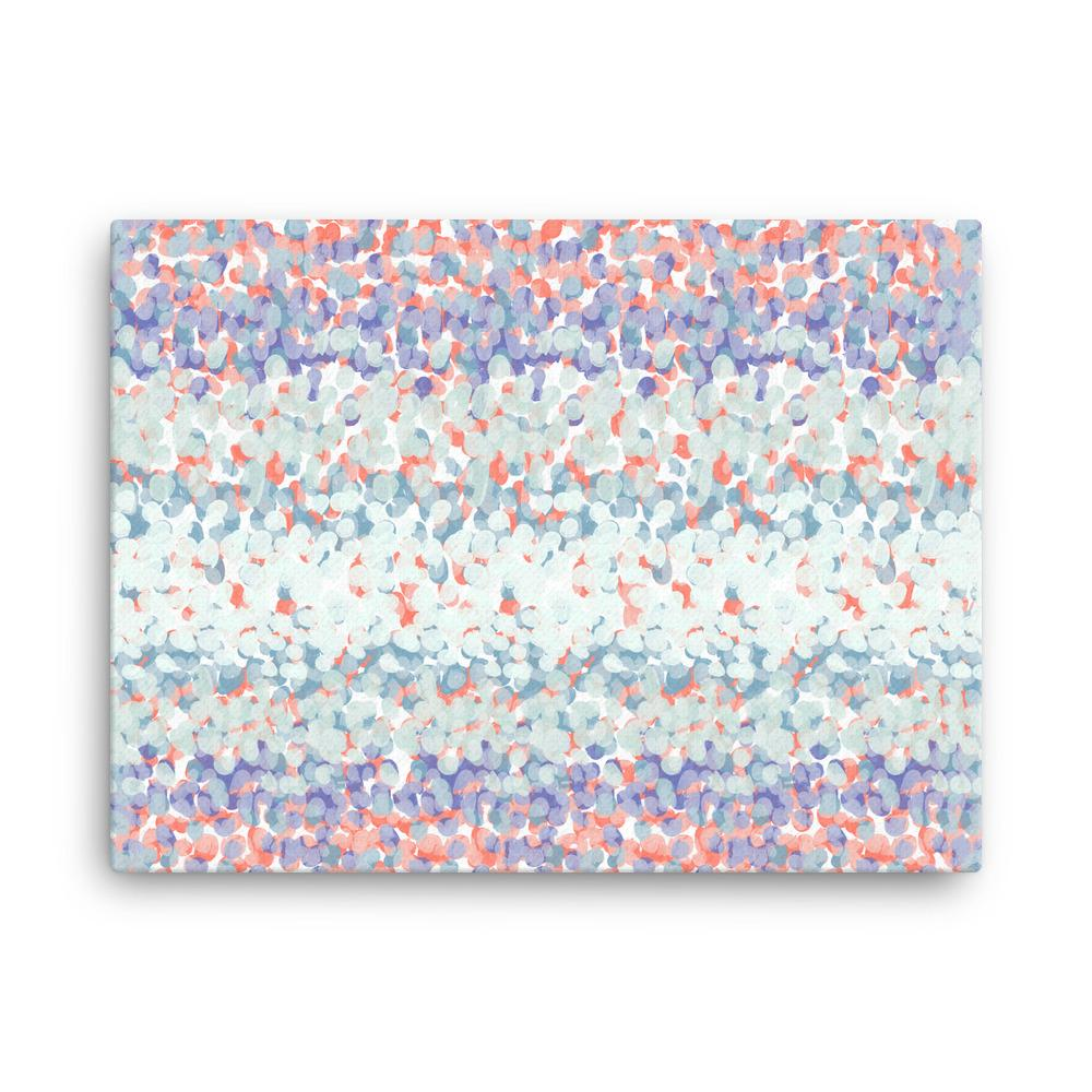 Ice Blue and Coral Red | Canvas Print - Canvas from Paris France