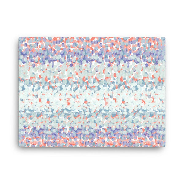 Ice Blue and Coral Red | Canvas Print - Canvas from Ainsi Hardi Paris France