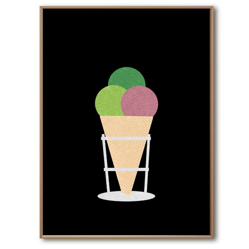 Ice Cream Day | Giclée Art Print - Poster from Ainsi Hardi Paris France