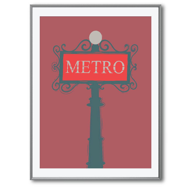 Metro Sign in Paris | Giclée Print - Poster from Ainsi Hardi Paris France