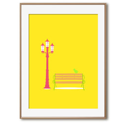 A Streetlamp in Sunshine | Art Print - Poster from Ainsi Hardi Paris France