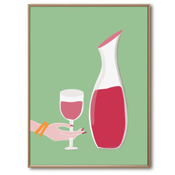 Wine Time | Giclée Print - Poster from Ainsi Hardi Paris France