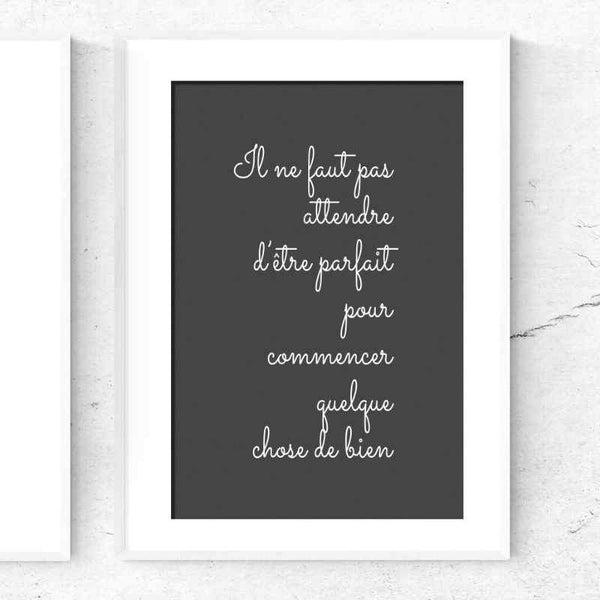Something Perfect | Printable Poster - Poster from Ainsi Hardi Paris France