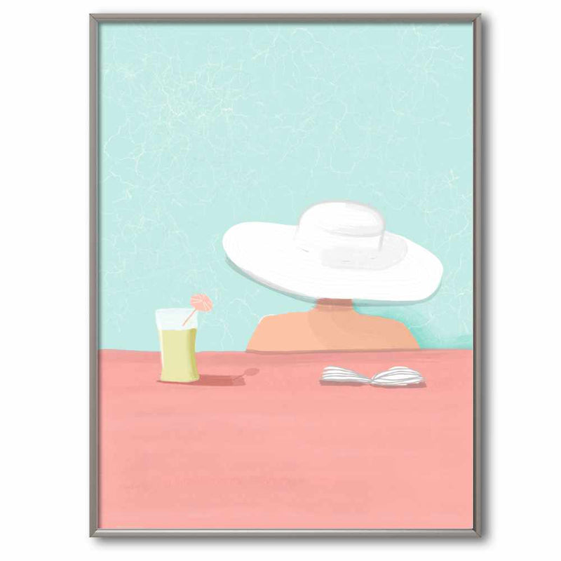 Poolside in the South of France | Giclée Print
