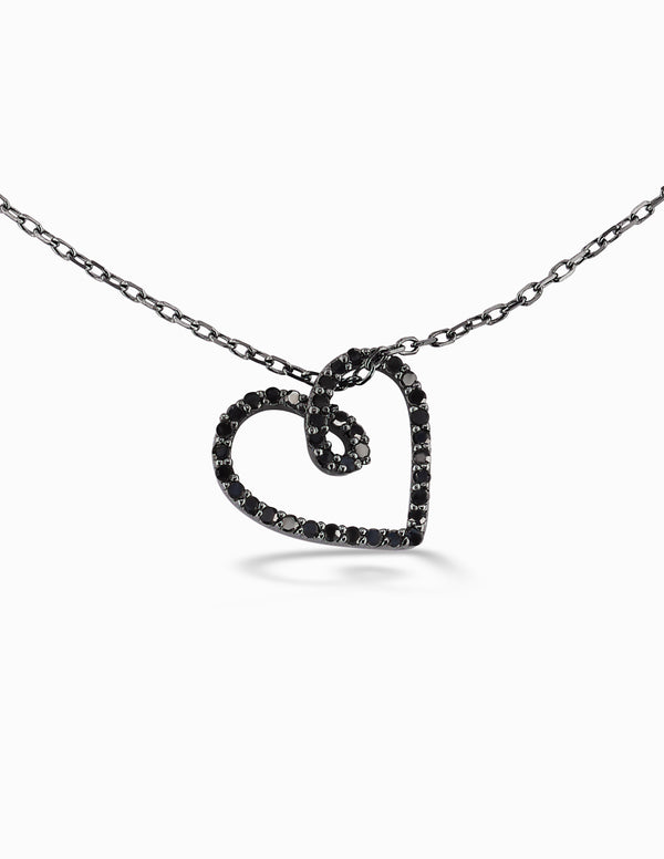 Black Lives Matter Diamond Heart Necklace