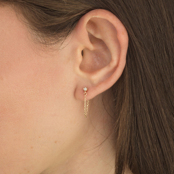 Single Diamond Chain Studs