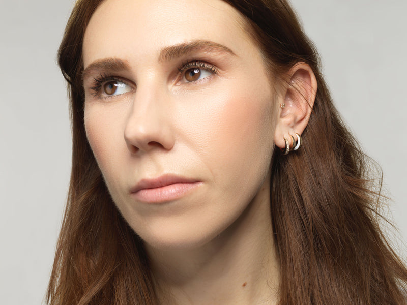 SRJ X Zosia Mamet Diamond and Enamel Hoops