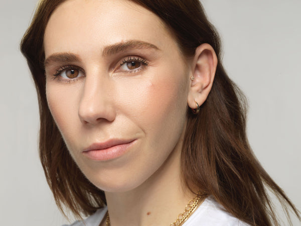SRJ X Zosia Mamet Golden Hoops