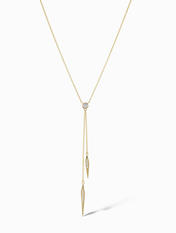 Pave Diamond Hourglass Necklace