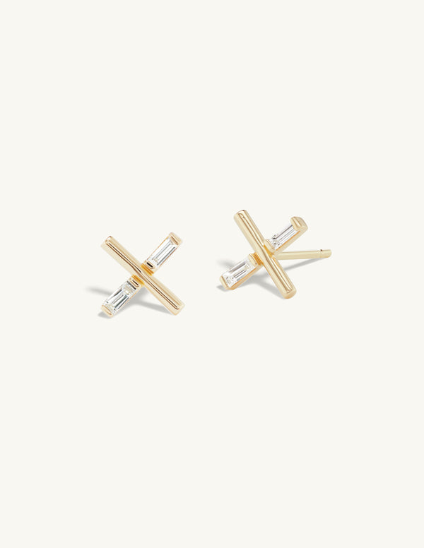 Single Diamond Charm Stud
