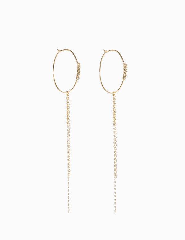 Small Diamond and Chain Hoops