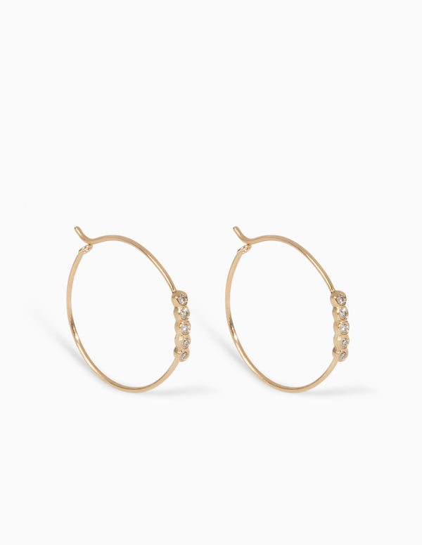 Classic Five Diamond Hoops