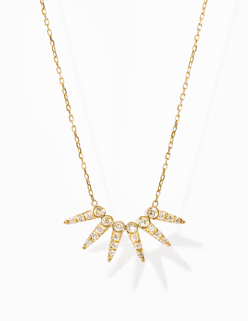 Pave Star Point Necklace