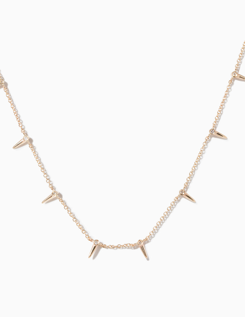 Star Point Interval Necklace