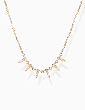 Pave Star Point Chain Necklace