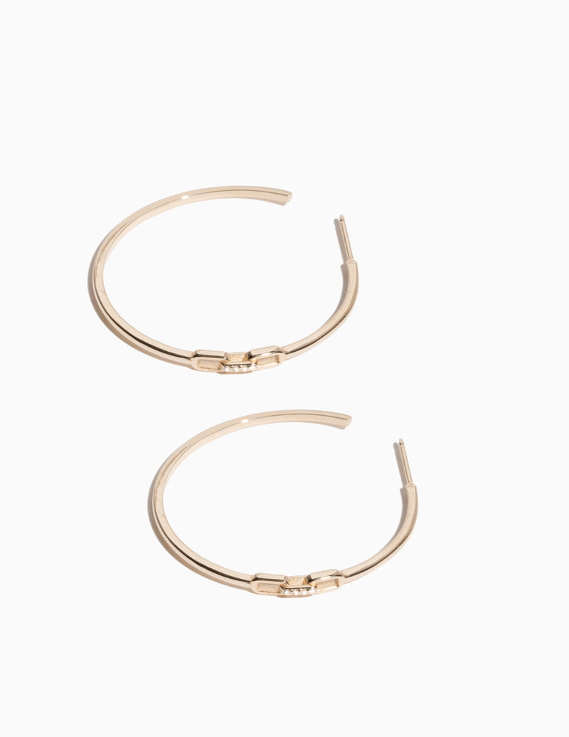 Diamond Clasp Hoops