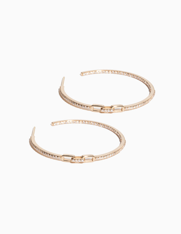 Full Diamond Clasp Hoops