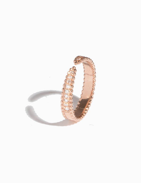 Pave Open Ring