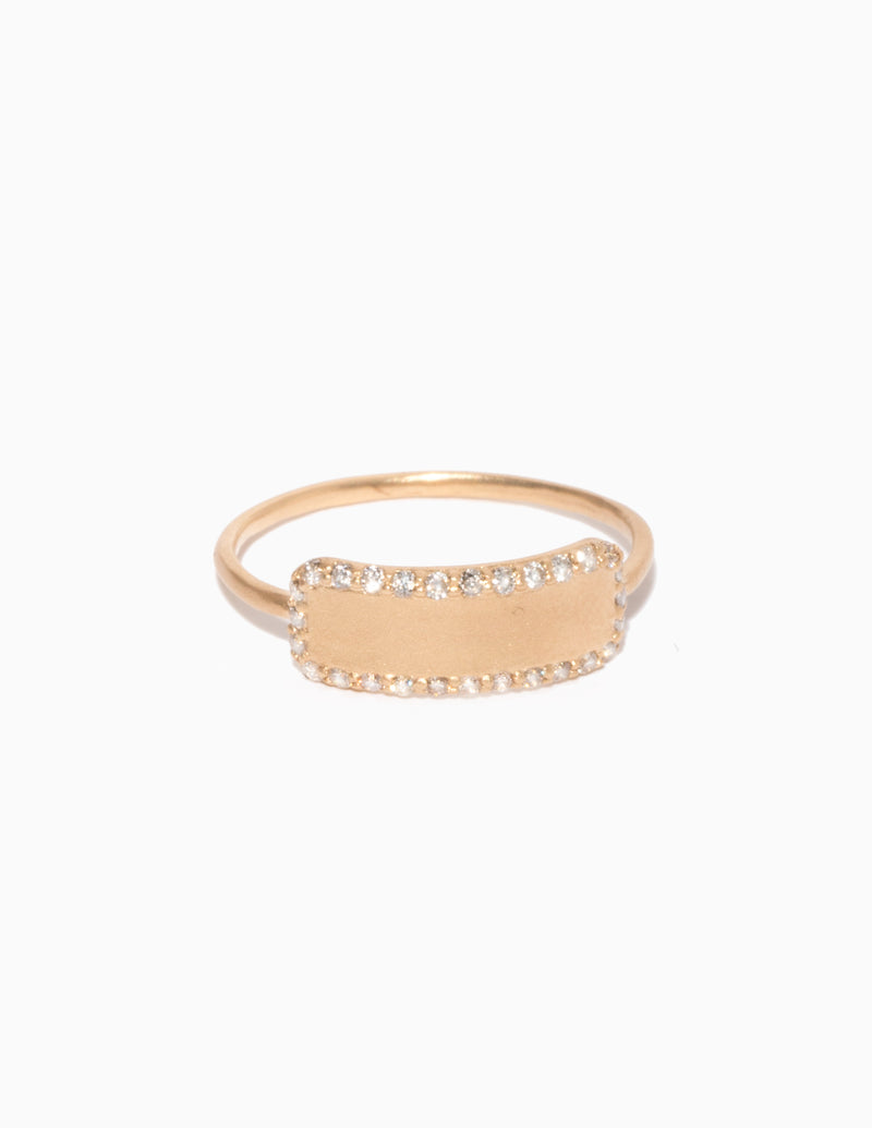 Diamond Edge Tag Ring