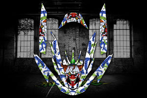 YAMAHA FZR WAVERUNNER GX1800 2009-16 JETSKI COMPLETE GRAPHICS WRAP 'STIFF UPPER LIP' SKIN - Darkside Studio Arts LLC.