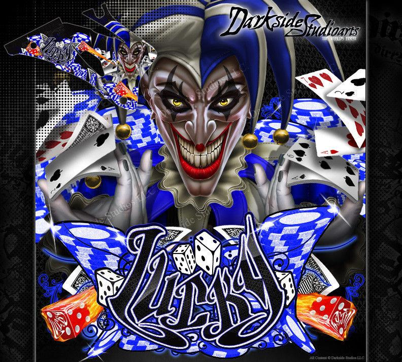"YAMAHA 1998-2009 YZF250 YZF450 DECAL WRAP ""LUCKY"" GRAPHICS SET FOR OEM PARTS - Darkside Studio Arts LLC."