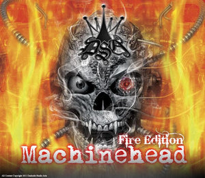 "CAN-AM RENEGADE DECAL GRAPHICS KIT ""MACHINEHEAD"" FIRE EDITION SKULLS - Darkside Studio Arts LLC."