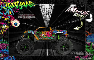 "TRAXXAS X-MAXX GRAPHICS WRAP DECALS ""RUCKUS"" FITS PROLINE FORD RAPTOR, BRUTE BASH & STOCK BODY - Darkside Studio Arts LLC."