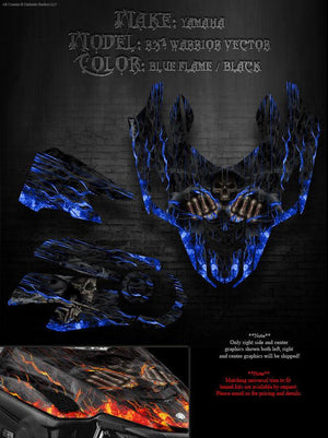 "YAMAHA 2005-07 RS VECTOR TURBO RX1 04-06 WARRIOR ""HELL RIDE"" WRAP GRAPHICS DECAL - Darkside Studio Arts LLC."