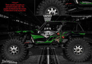 "AXIAL WRAITH ROCK RACER DECALS GRAPHICS ""THE DEMONS WITHIN"" FITS OEM PARTS 1/10 - Darkside Studio Arts LLC."