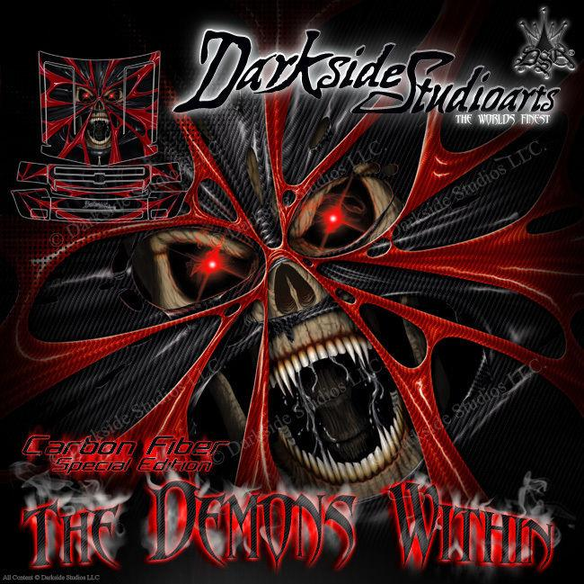 "REDCAT RAMPAGE TRUCK WRAP GRAPHIC DECALS ""THE DEMONS WITHIN"" FITS OEM PARTS - Darkside Studio Arts LLC."