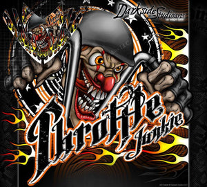 "ARCTIC CAT M-SERIES ""THROTTLE JUNKIE"" CROSSFIRE GRAPHICS DECALS KIT M800  M8 M6 - Darkside Studio Arts LLC."