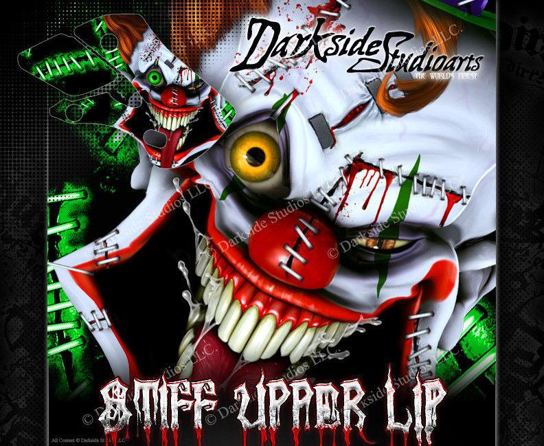 "KAWASAKI 1985-2015 KX60 KX65 ""STIFF UPPER LIP"" GRAPHICS WRAP FOR OEM AND UFO - Darkside Studio Arts LLC."