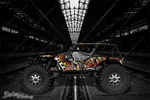 "AXIAL WRAITH GRAPHICS DECALS WRAP ""THROTTLE JUNKIE"" FITS OEM BODY PANEL PARTS - Darkside Studio Arts LLC."