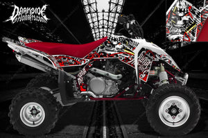 "SUZUKI LTR450 LTR450R GRAPHICS WRAP DECAL KIT ""WAR MACHINE"" FITS OEM PARTS RED - Darkside Studio Arts LLC."