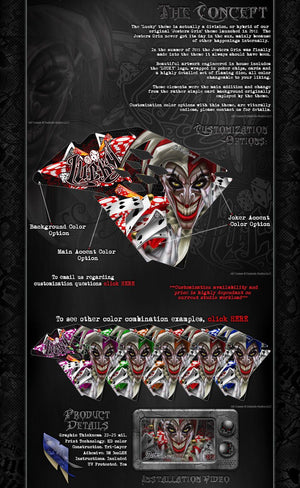 "KAWASAKI 1994-2016 KX80 KX85 KX100 ""LUCKY"" GRAPHICS WRAP DECALS KIT - Darkside Studio Arts LLC."
