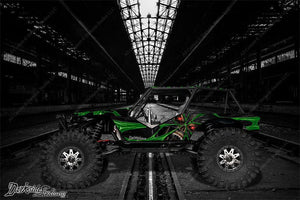 "AXIAL WRAITH ROCK RACER WRAP GRAPHICS ""THE DEMONS WITHIN"" FITS OEM BODY 1/10 - Darkside Studio Arts LLC."