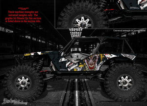"AXIAL WRAITH WRAP GRAPHICS DECAL KIT ""THE JESTERS GRIN"" FITS OEM BODY PARTS - Darkside Studio Arts LLC."